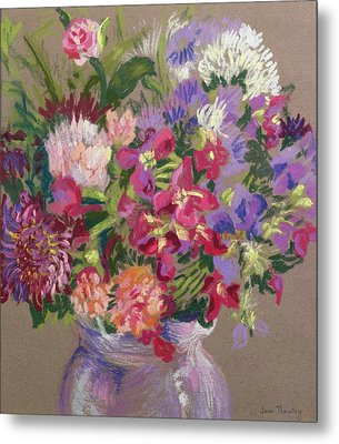 Asters Metal Print by Joan Thewsey