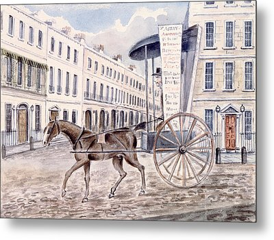 Astleys Advertising Cart Wc On Paper Metal Print by Thomas Hosmer Shepherd