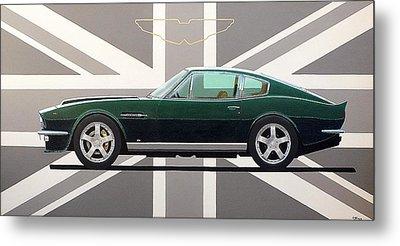 Aston Martin V8 Vantage Metal Print