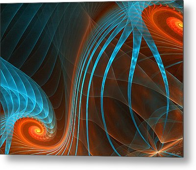 Astonished-fractal Art Metal Print by Lourry Legarde