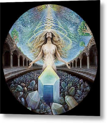 Astral Emergence Metal Print by Morgan Mandala Manley