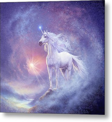 Astral Unicorn Metal Print by Steve Read