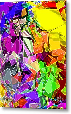 Metal Print featuring the digital art Astratto - Abstract 51 by Ze  Di