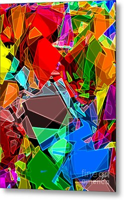 Metal Print featuring the digital art Astratto - Abstract 52 by Ze  Di