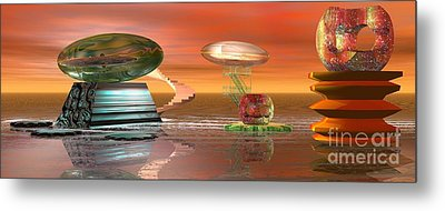 Astro Space Metal Print by Jacqueline Lloyd