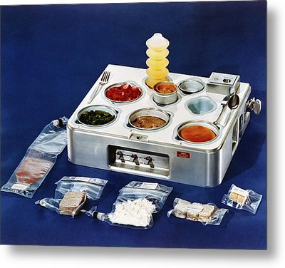 Astronaut Food Metal Print