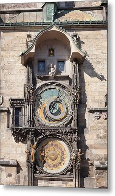Astronomical Clock At The Old Town Metal Print by Panoramic Images