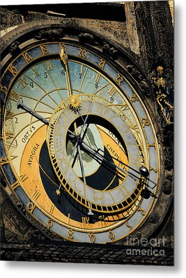 Astronomical Clock In Prague Metal Print by Jelena Jovanovic