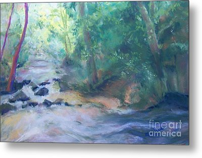 Metal Print featuring the painting At Bob's Creek by Mary Lynne Powers