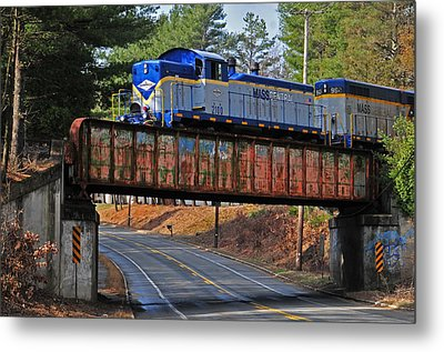 At Gibb's Crossing Metal Print by Mike Martin