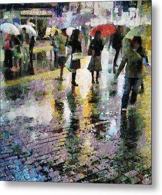 At Last Spring Rain Metal Print