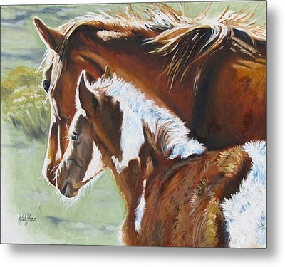 At Mamas Side Metal Print