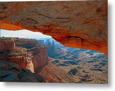At Mesa Arch  --   2010 First Place Peoples Choice Caa Art Show  Metal Print