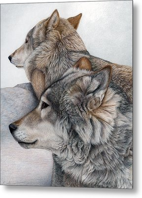 Metal Print featuring the painting At Rest But Ever Vigilant by Pat Erickson