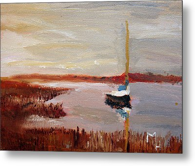 Metal Print featuring the painting At Rest by Michael Helfen