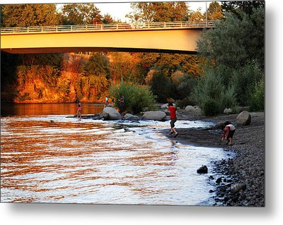 Metal Print featuring the photograph At Rivers Edge by Melanie Lankford Photography