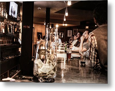 At The Bar Metal Print