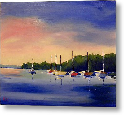 At The End Of The Day Metal Print by Karen Macek