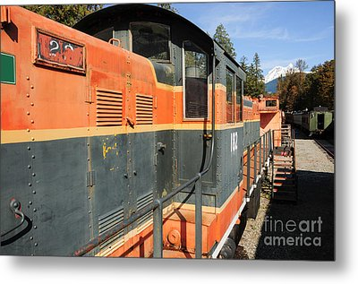 At The End Of The Railroad Metal Print by Malu Couttolenc