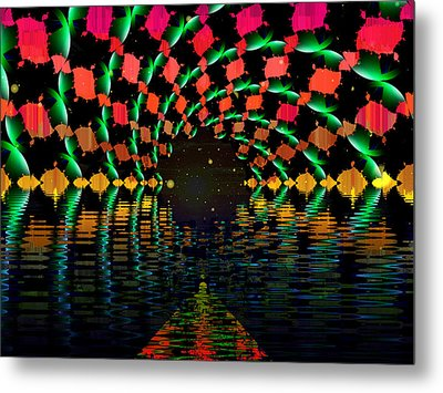 At The End Of The Tunnel Metal Print by Faye Symons