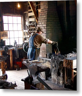 At The Forge Metal Print by Trever Miller