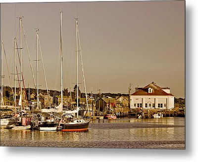 At The Harbor - Martha's Vineyard Metal Print by Kim Hojnacki