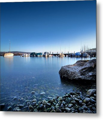At The Lake Zuerich Metal Print by Marc Huebner