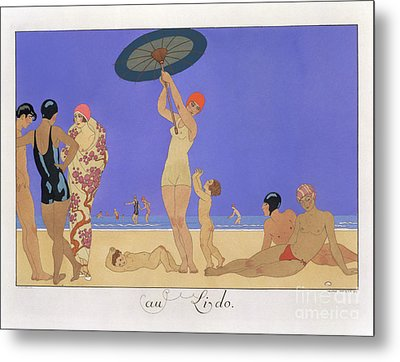 At The Lido Metal Print