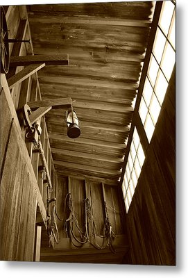 At The Museum - Sepia Metal Print by Marilyn Wilson