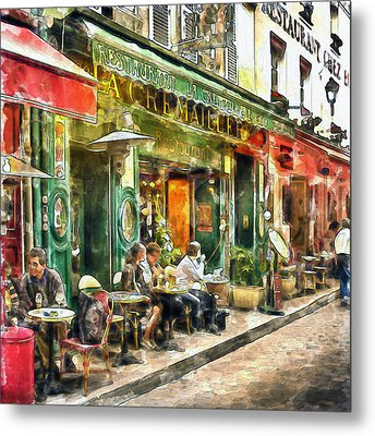 At The Restaurant In Paris Metal Print by Marian Voicu