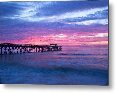 Myrtle Beach State Park Pier Sunrise Metal Print