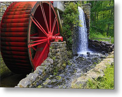 At The Wayside Inn Gristmill Metal Print by John Hoey