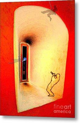 At The Window 01 Metal Print by Mojo Mendiola