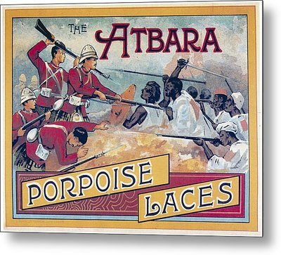 Metal Print featuring the photograph Atbara Porpoise Laces Vintage Ad by Gianfranco Weiss