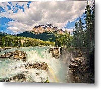 Athabasca Falls Metal Print by Tracy Munson