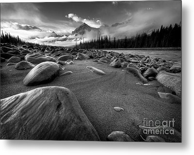 Athabasca River Water Worn Stones Metal Print