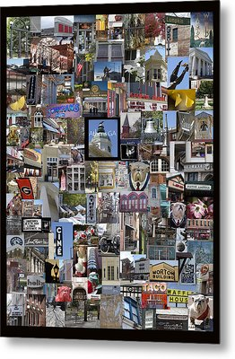 Athens Collage Metal Print by Sally Ross