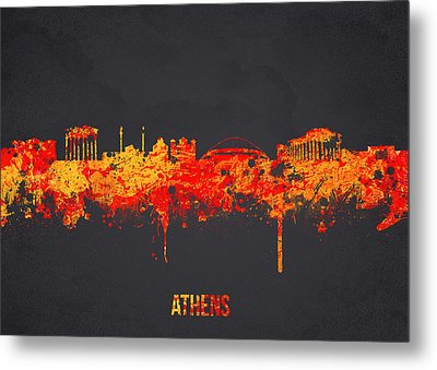 Athens Greece Metal Print by Aged Pixel