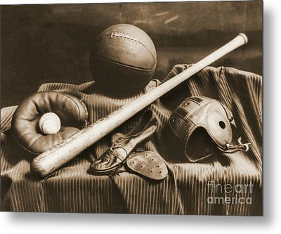 Athletic Equipment 1940 Metal Print by Padre Art