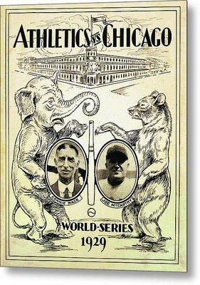 Athletics Vs Chicago 1929 World Series Metal Print