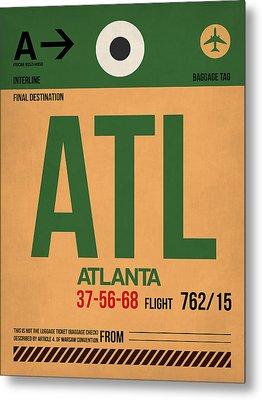Atlanta Airport Poster 1 Metal Print