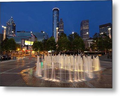 Atlanta By Night Metal Print by Alexey Stiop
