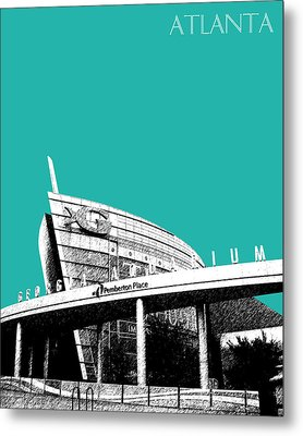 Atlanta Georgia Aquarium - Teal Green Metal Print by DB Artist