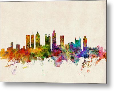 Atlanta Georgia Skyline Metal Print by Michael Tompsett