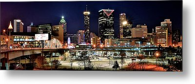 Atlanta Panoramic View Metal Print by Frozen in Time Fine Art Photography