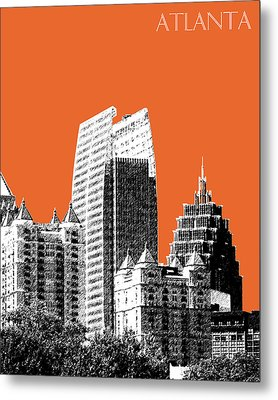 Atlanta Skyline 2 - Coral Metal Print