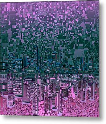 Atlanta Skyline Abstract 5 Metal Print