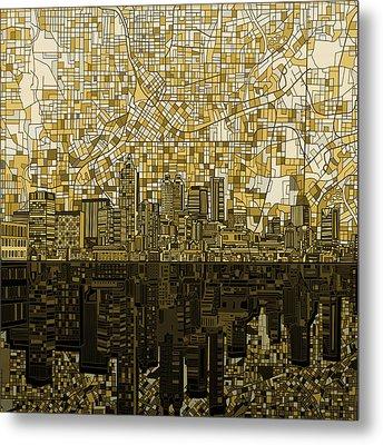 Atlanta Skyline Abstract Metal Print
