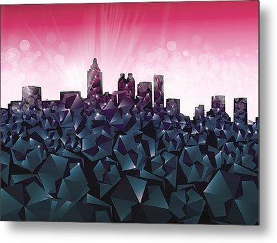 Atlanta Skyline Geometry 4 Metal Print