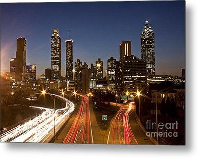Atlanta Skyline - Jackson St Bridge Metal Print